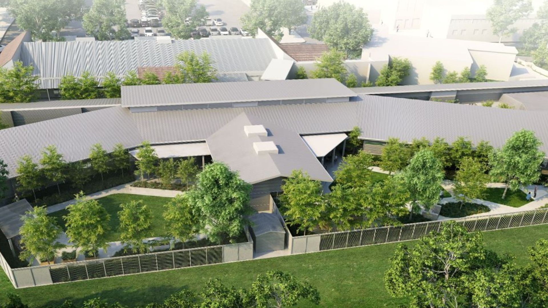 Overhead concept view of the Dementia Care facility
